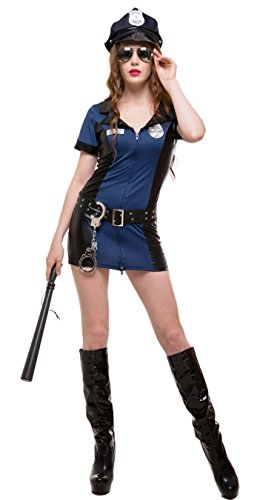 Whatsofun Sexy Police Officer Women's Costume