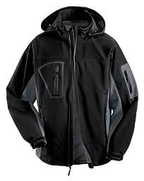 Port Authority Waterproof Soft Shell Jacket, 4XL, Black/Graphite