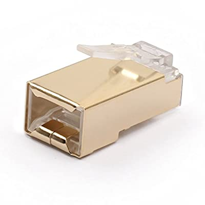 SHD RJ45 Connector 8P8C UTP Network Plug for CAT5 CAT5E CAT6 Stranded Cable Solid Crystal Head