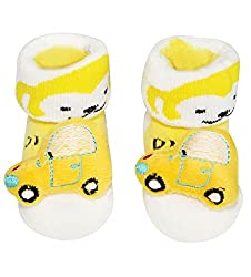 Wonderkids Yellow Car Baby Socks Booties