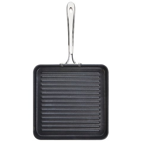 B1 Hard Anodized Nonstick 11-Inch Flat Square Grille Pan Stainless Steel Double-riveted Handle