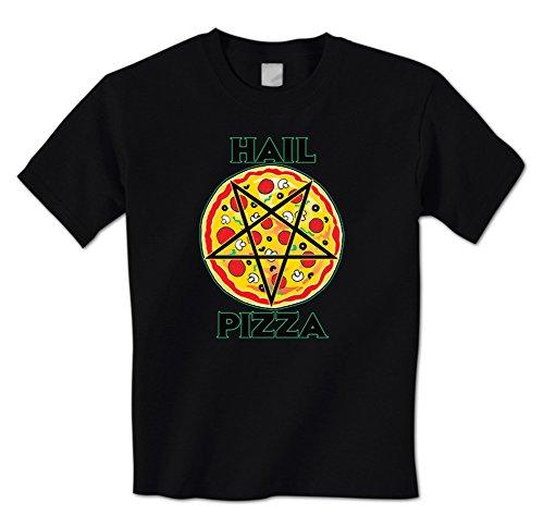 Hail Pizza Pentagram Mens T-Shirt (Large Black)