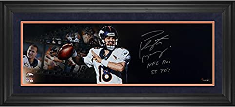 "Peyton Manning Denver Broncos Framed Autographed 10"" x 30"" Filmstrip Photograph with NFL REC 55 TDS Inscription - Fanatics Authentic Certified"