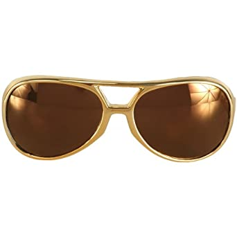Rock and Roller Glasses - Gold Gold Costume Accessory