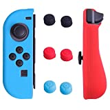HDE Silicone Joy-Con Cover for Nintendo Switch with Thumb Grip Caps Anti-Slip Protective Skin Non-Adhesive Comfort Grip Controller Case (Blue Red)