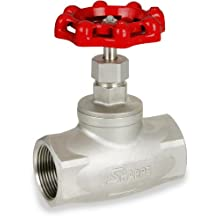 Sharpe Valves 40276 Series Stainless Steel 316 Globe valve, Screwed Bonnet, Inline, NPT Female