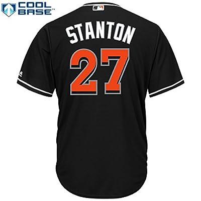 Giancarlo Stanton Miami Marlins #27 MLB Men's Cool Base Alternate Jersey Black