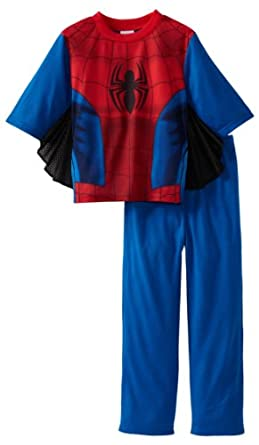 Spiderman Little Boys' Ultimate Uniform 2 Piece Sleep Set, Multi, 6