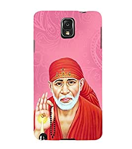 OM Shri Sai Kaalaya 3D Hard Polycarbonate Designer Back Case Cover for Samsung Galaxy Note 3 N9000 :: Samsung Galaxy Note 3 N9002 :: Samsung Galaxy Note 3 N9005 LTE