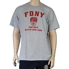 9/11 Official Licensed Memorial FDNY Short Sleeve T-Shirt Gray