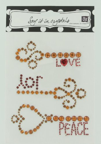 Prima 522605 Say It In Crystal Wing And Keyword Sticker With Joy Print, Topaz