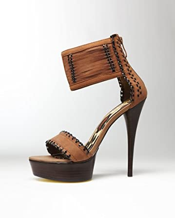 bebe Vania Leather Stitched Sandals