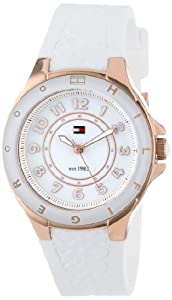 Tommy Hilfiger Women's 1781275  Sport White Silicon Rose Gold Watch