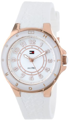 TOMMY HILFIGER 1781275 LADIES WHITE RUBBER STAINLESS STEEL CASE RRP £76 WATCH