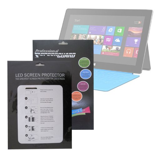 """Duragadget Pack Of 3 High Quality Microsoft Surface With Windows Rt 8 Gb 16Gb 32Gb 64Gb 128Gb 10.6"""" Tablet Clear Screen Protector Guard front-159241"""