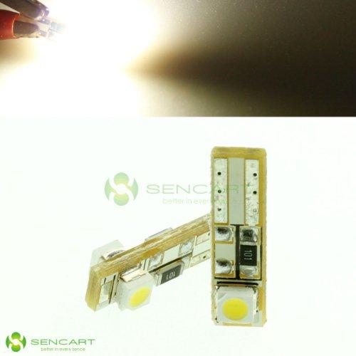T5 2-Smd 3528 Led White Lights Car Dashboard Instrument Light/ Indicator Light Bulbs Dc 12V (2Pcs In Box)