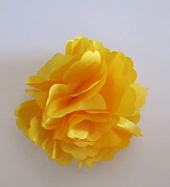 A Girl Company Yellow Satin Flower Hair Clip/Brooch