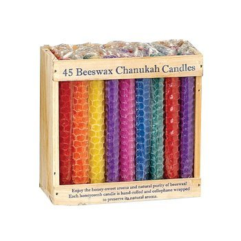 Rite Lite C-22-f Chanukah Candles - Honeycomb Beeswax, Assorted Colors Pack Of 6 from Rite Lite