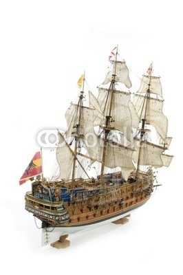 "Wallmonkeys Peel and Stick Wall Decals - Spanish Galleon - 60""H x 40""W Removable Graphic"