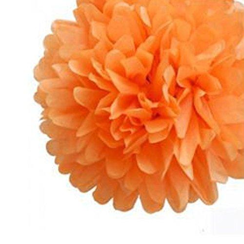 Y-BOA 10Pcs Fleurs En Papier Taille 15cm Mariage/Bal/Cocktail Fonctionnement Simple (Orangé)