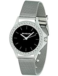 Grandson Black Casual Analog Watch For Girl's And Women's