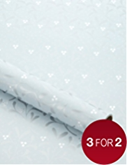 Silver Mistletoe Christmas Wrapping Paper