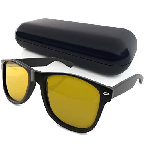 Best Deals! Wayfarer Sunglasses and Yellow Tinted Computer Glasses Eye Strain Perfect for Gaming Ant...