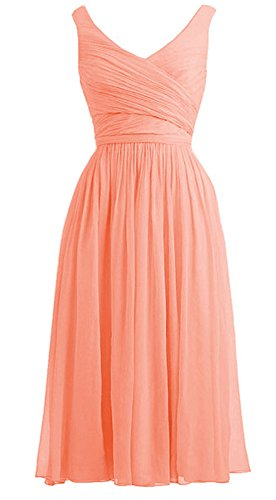 *Maillsa 2014 New Women'S Deep V-Neck Bridesmaid Dress,Party Dress Pp 20