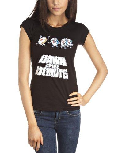 Damen bedruckt T-Shirt, Gr. 32, Schwarz