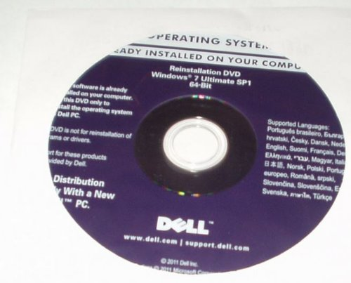 Windows 7 Ultimate 64 Bit Dell Reinstallation/recovery