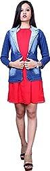 Style Souk Women's Regular Fit Jacket (Skj11, Blue, Medium)