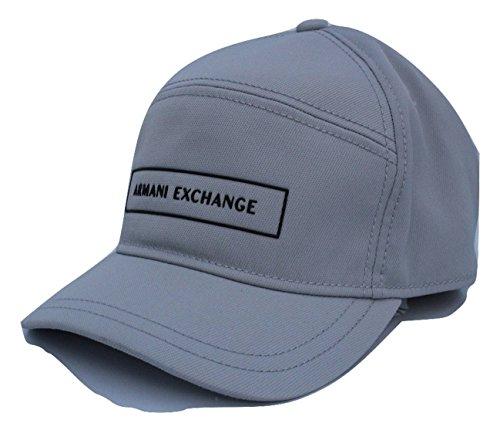 13e53a415ab Armani Exchange AIX 5 Panel Nylon Baseball Hat in Mirage Grey