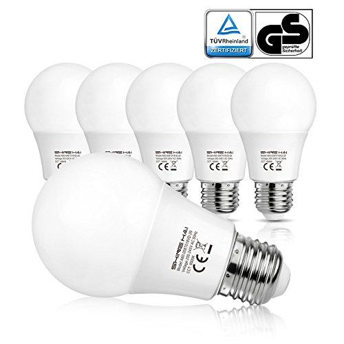 shine-hai-lampadine-led-e27-8w-pari-a-lampada-60w-luce-bianco-freddo-6500kconfezione-da-6