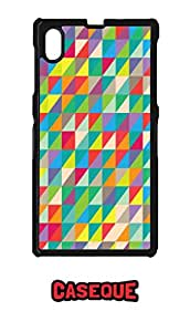 Caseque Art Print Geometric Back Shell Case Cover for Sony Xperia Z1