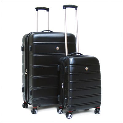 Andover 2 Piece ABS Hardcase 4-Wheel Lage Set Color: Black