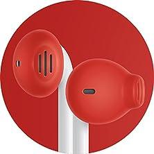 buy Earskinz Earpod Covers (Es2) - Red - For Apple Iphone 6S / 6 / 5S / 5C / 5