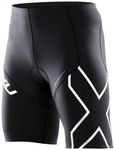 2XU Women's Compression Tri Shorts, Black/Black, Medium