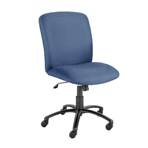 Safco Products 3490Bu Executive Chairs,High-Back,27 In.X30-1/4 In.X40-3/4-44-3/4 In.,Be front-128758