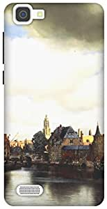 The Racoon Grip printed designer hard back mobile phone case cover for Vivo V1. (View of De)