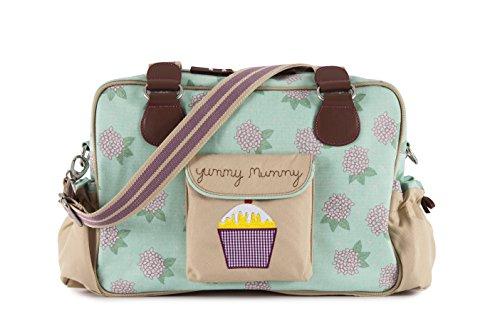 Pink Lining Yummy Mummy Diaper Bag, Hydrangea