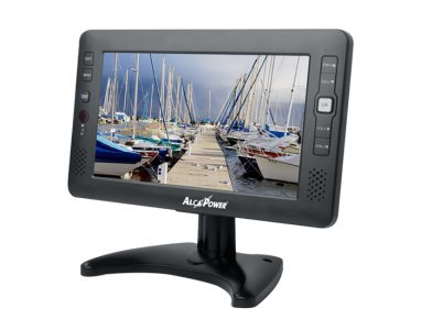 "TV MONITOR DVBT 9"" PER AUTO, CAMPER, BARCA 12/24VOLT, 220 VOLT E BATTERIA INTERNA LITIO AV IN, MP3, JPEG"