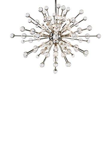Home Philosophy Constellation 9-Light Chandelier Nova, Nickel/Clear Glass