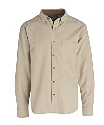 Woolrich Men\'s Sportsman Chamois Shirt, Khaki Heather, Small