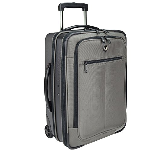 Traveler's Choice 21-Inch Hybrid Rolling Carry-on/Garment Bag, Charcoal (Rolling Garment Bag Luggage compare prices)