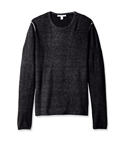 Autumn Cashmere Men's Purl Inked Crew Neck Sweater