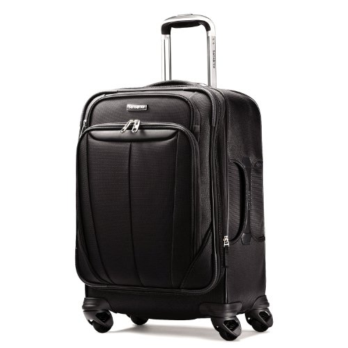 Samsonite Luggage Silhouette Sphere Expandable 21 Inch Spinner, Black, One Size image