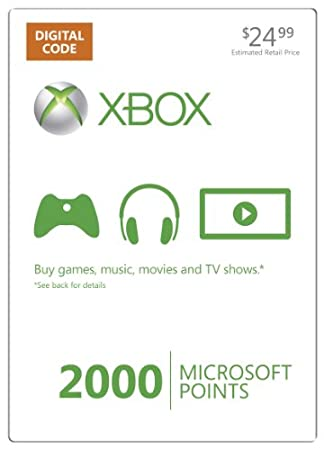 Xbox LIVE 2000 Microsoft Points [Online Game Code]