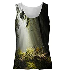 Snoogg Hidden Way In Forest Womens Tunic Casual Beach Fitness Vests Tank Tops Sleeveless T shirts