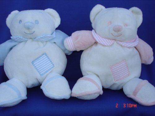 Ultra Soft My First Baby Teddy Bear Toy Rattle Stuffed Animal, 7 Inches Tall, 2 Pcs Set