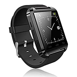 Soyan® UWatch U8 Bluetooth Smartwatch WristWatch Phone Touch Screen Mate For Android (Full functions)(Black)